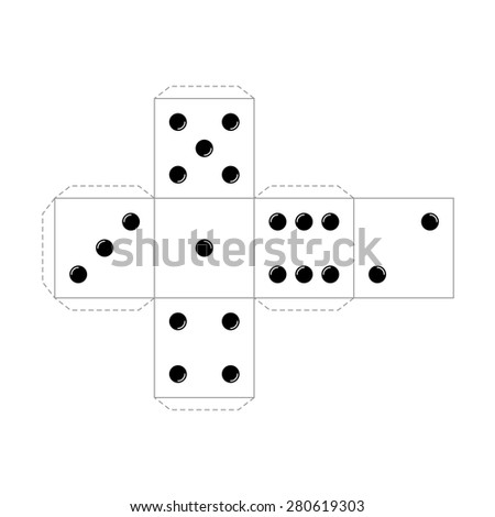 Casino Table Board Game Cube Vector Stock Vector