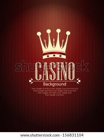 Casino vector background - stock vector