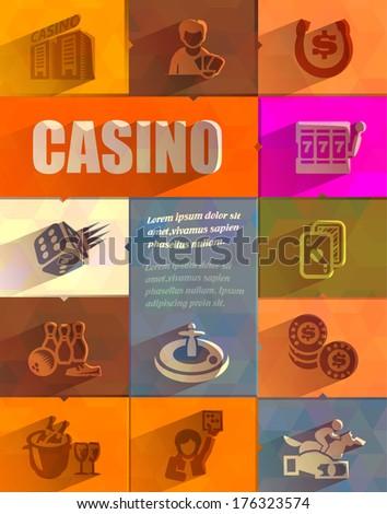 Casino. Vector format - stock vector