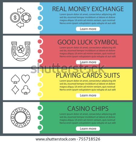 Casino Web Banner Templates Set Real Stock Photo Photo Vector