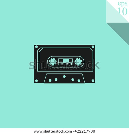 Cassette Icon.  - stock vector