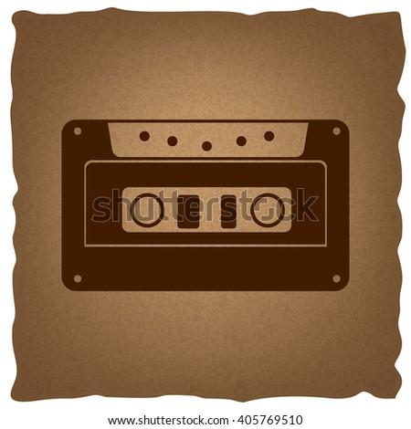 Cassette icon, audio tape sign - stock vector
