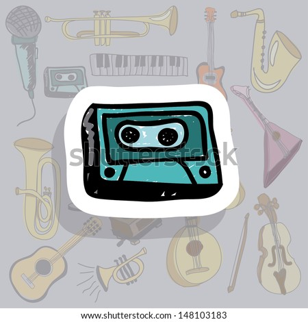 cassette icon over gray background vector illustration