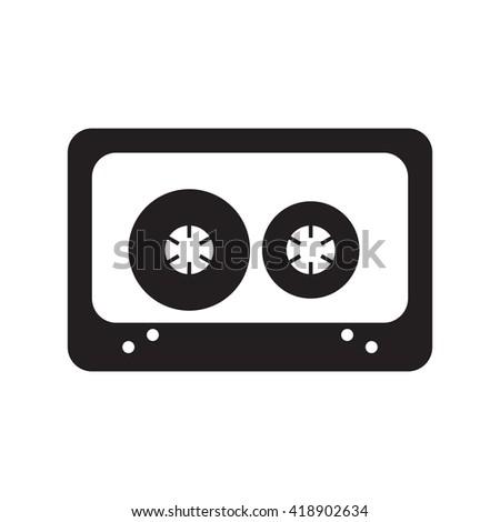 cassette icon vector - stock vector