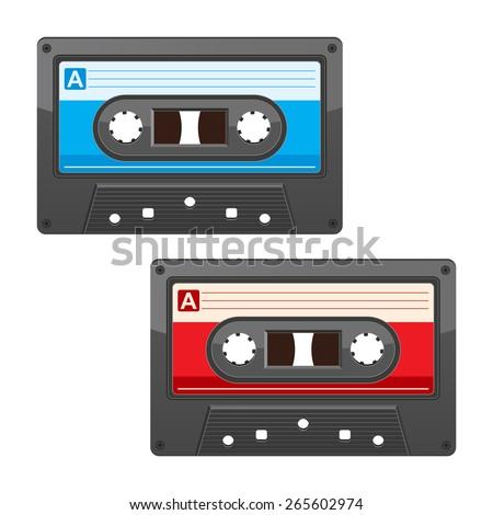 cassette tape - stock vector