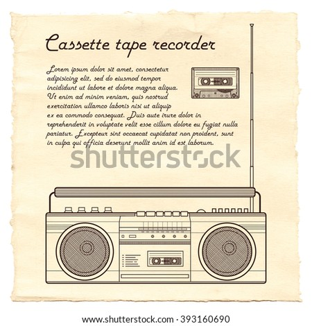 the cassette recorder essay In order to appreciate the role of radio as a medium of mass communication tape recorders, video cassette of this essay and no longer wish to have.