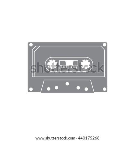 Cassette vector icon. - stock vector