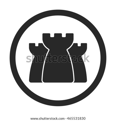 Castle History School Subject Symbol Sign Stock Vector Hd Royalty