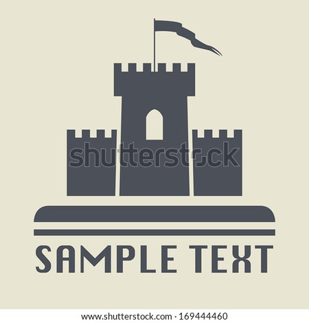 Castle icon or sign, vector illustration - stock vector