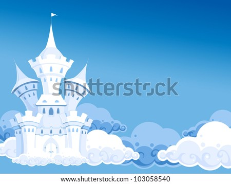 castle in the air - stock vector