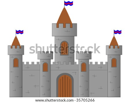 Castle on white background - stock vector