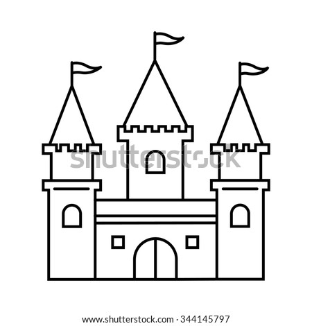 Castle Outline Stock Images Royalty Free Images amp Vectors