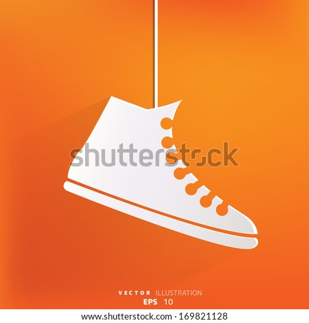Casual gym shoes icon - stock vector