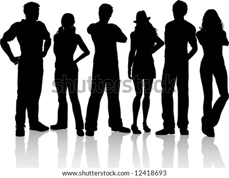 Casual people - stock vector