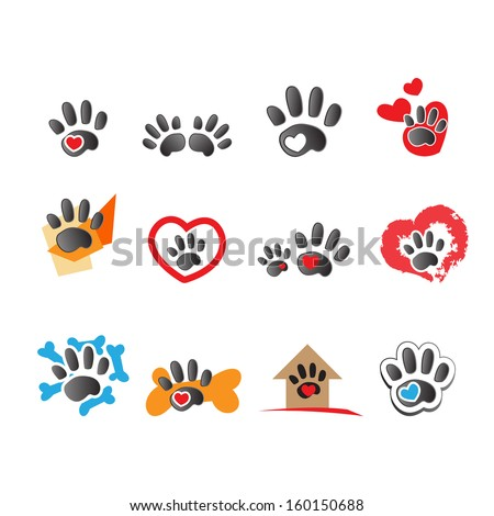 Cat And Dog Icons - Isolated On White Background - Vector Illustration, Graphic Design Editable For Your Design. - stock vector