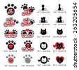 Cat And Dog Icons Set - Isolated On White Background - Vector Illustration, Graphic Design Editable For Your Design.  - stock vector