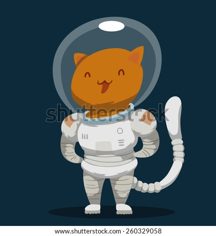 Cat Astronaut, vector