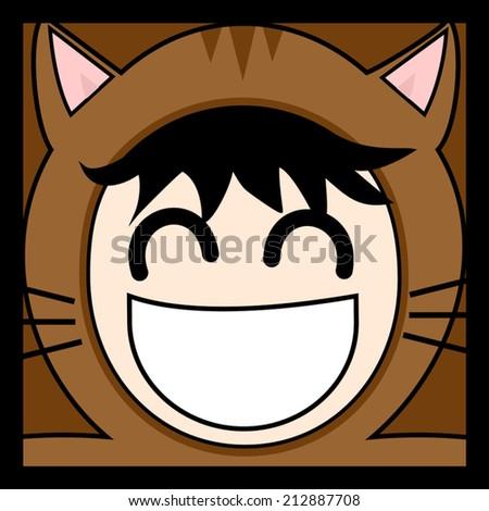 Cat boy - stock vector
