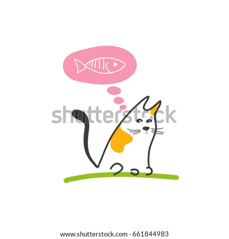 Cat dreaming fish shutterstock for Dreaming of eating fish