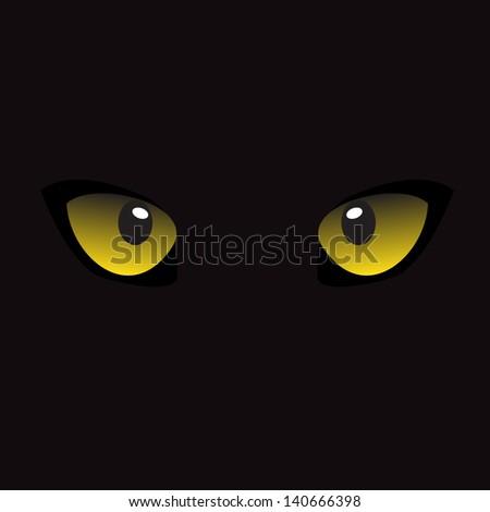 Cat Eyes - stock vector