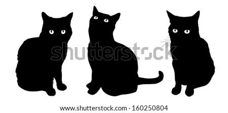 Cat figures - stock vector