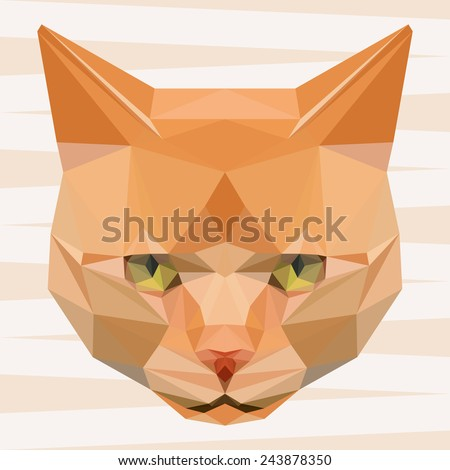 Cat. Ginger cat. Abstract cat. Cat icon. Cat. Polygonal cat. Cat. Geometric cat. Cat portrait. Abstract cat. Cat. Graphic cat. Cat gaze. Cat icon. Isolated cat. Cat. Cat icon. Cat icon. Cat icon. Cat - stock vector
