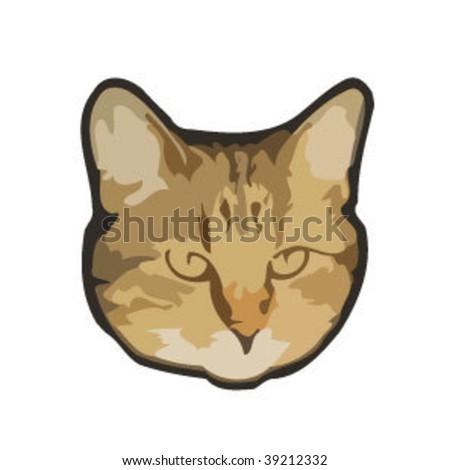 Cat head - stock vector