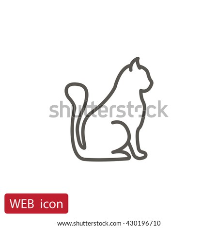 Cat icon.Cat icon Vector.Cat icon Art.Cat icon eps.Cat icon Image.Cat icon logo.Cat icon Sign.Cat icon Flat.Cat icon design.Cat icon app.Cat icon UI.icon Cat web - stock vector
