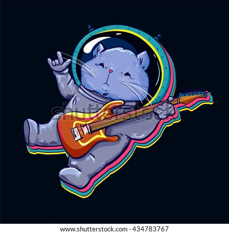 astronaut playing guitar in space - photo #11