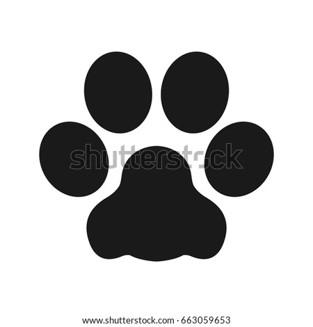 cat paw dog paw vector illustration stock vector 663059653 rh shutterstock com cartoon dog paw drawing cartoon dog paw print images