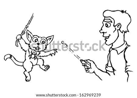 cat plays spider man human cat stock vector 162969239 shutterstock
