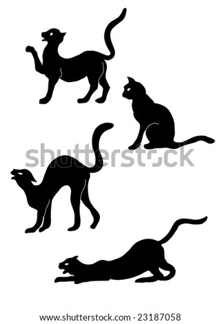 cat's group - stock vector