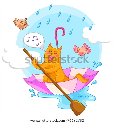 Image result for rain pouring during concert cartoon