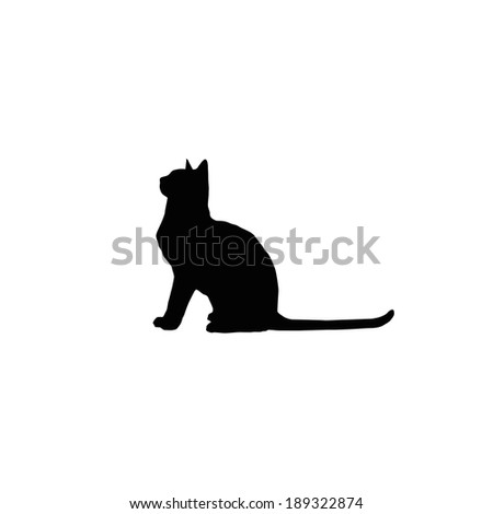 cat silhouette - stock vector