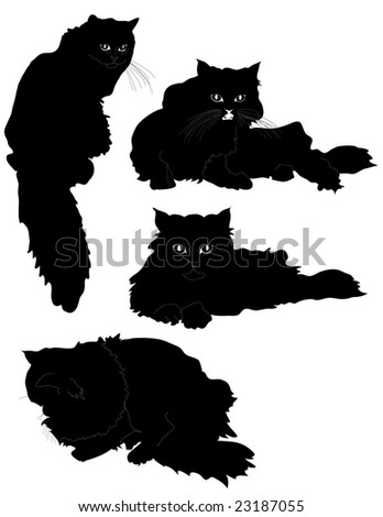 Cat silhouette - stock vector