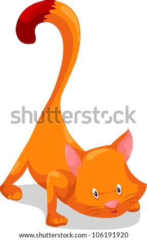 cat vector illustration - stock vector