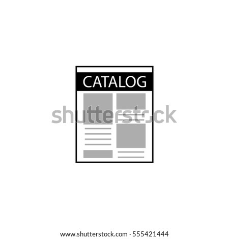 catalog icon, vector illustration.