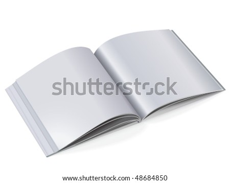Catalog with light tone pages - stock vector