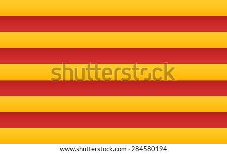 Catalonia Flag - stock vector