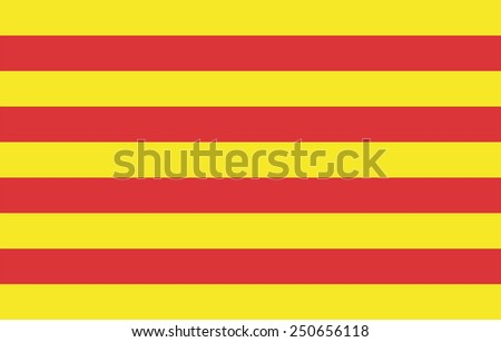 Catalonia flag vector, Accurate dimensions, elements proportions and colors. Original and simple Catalonia flag isolated vector in official colors and Proportion Correctly. - stock vector