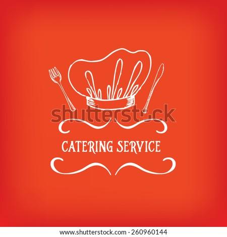 Catering service, design logo.  - stock vector