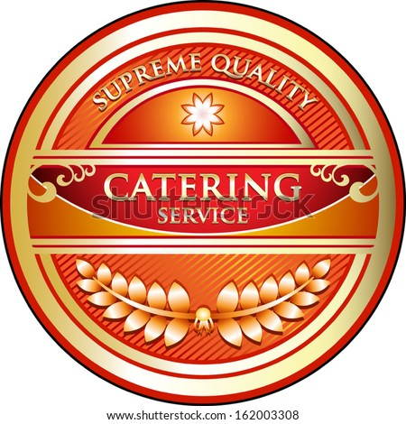 Catering Vintage Label - stock vector