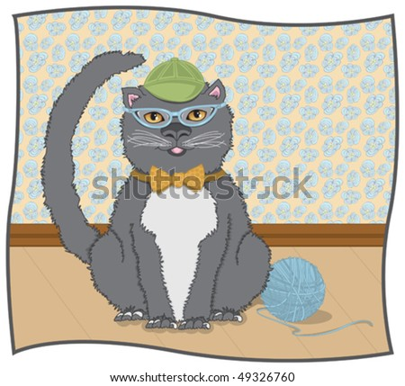 CatEye Kitty - Click on my portfolio for more images in this series - stock vector