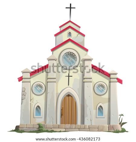 Catholic Church. Vector.