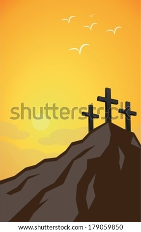 catholic easter eps10 - stock vector