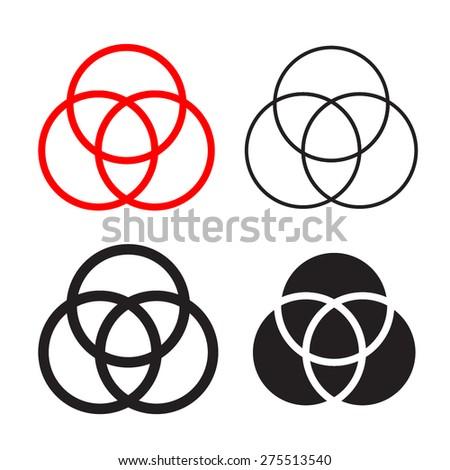 Catholic Holly Trinity Symbols - stock vector