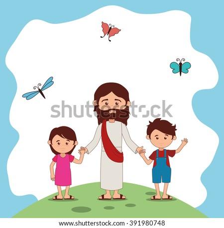 Catholic religion design  - stock vector
