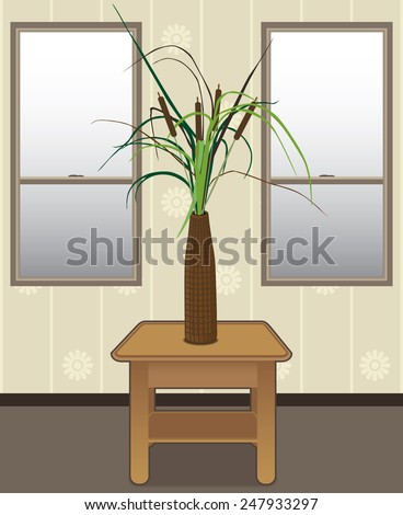 Cattails in a vase