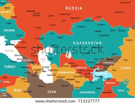 Caucasus Map Stockbilder Und Bilder Und Vektorgrafiken Ohne - Caucasus central asia political map 2003