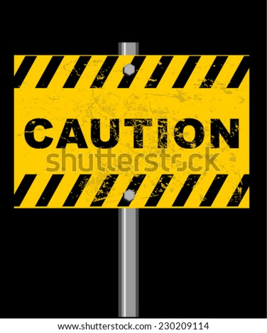 caution - stock vector